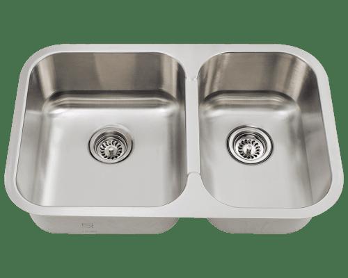 Franke Kbx12030 30 Inch Kubus Undermount Double Bowl Sink