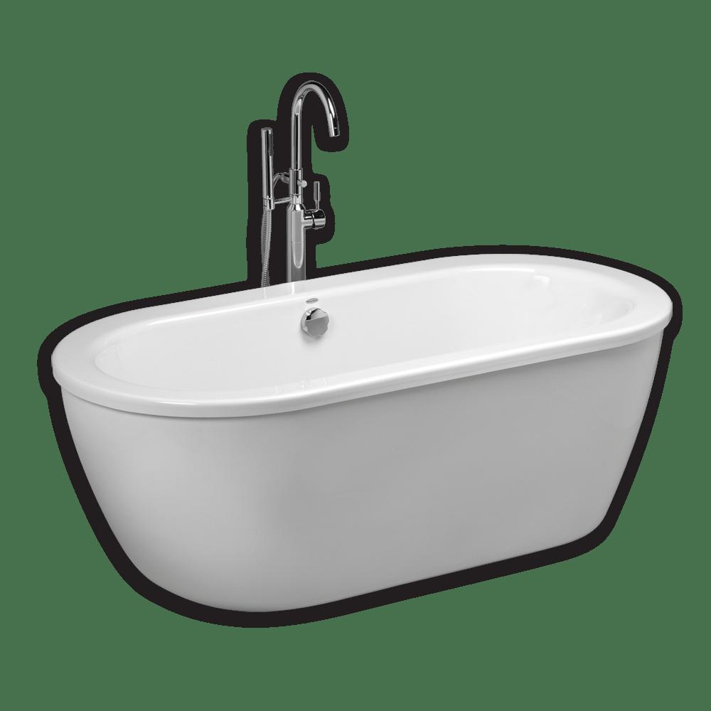 AMERICAN STANDARD 2764.014M202.011 CADET 66 X 32 INCH ACRYLIC FREESTANDING BATHTUB IN ARCTIC