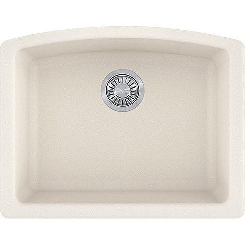 Franke ELG11022VAN Ellipse 25 Inch Undermount Single Bowl Granite Kitchen Sink in Vanilla
