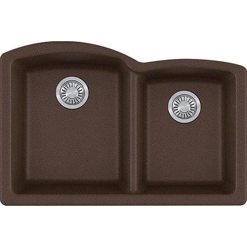 Franke Elg160moc Ellipse 33 Inch Undermount Double Bowl Granite Kitchen Sink In Mocha