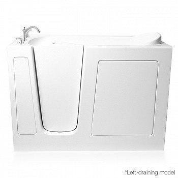Ariel EZWT-2651-Dual Series 51 L x 26 W x 38 H Inch Walk-In Bathtub