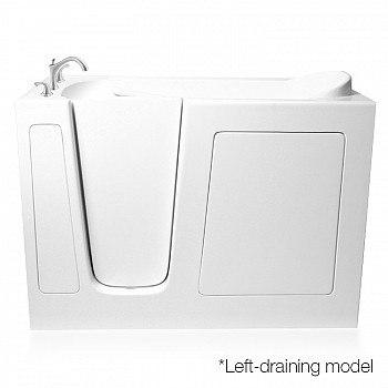 Ariel EZWT-3048-Soaker Series 48 L x 29 W x 38 H Inch Walk-In Bathtub
