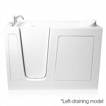 Ariel EZWT-3054-Soaker Series 54 L x 30 W x 39 H Inch Walk-In Bathtub