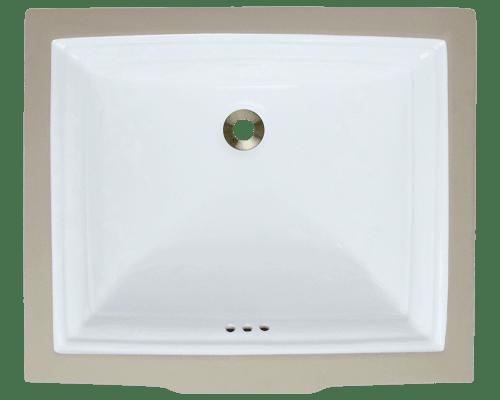 Polaris P0542U 21-1/2 Inch Rectangular Porcelain Sink