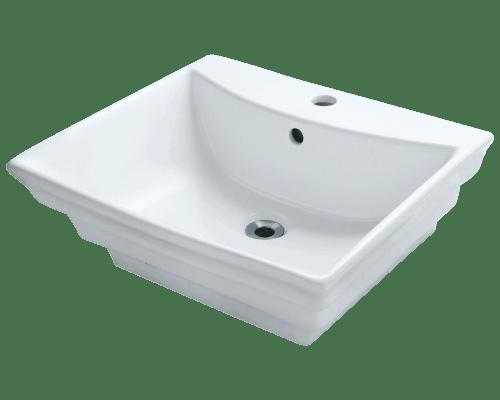 Polaris P061V 19-7/8 Inch Porcelain Vessel Sink
