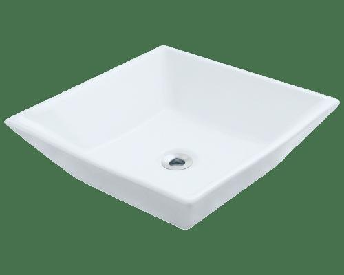 Polaris P071V 15-3/4 Inch Porcelain Vessel Sink