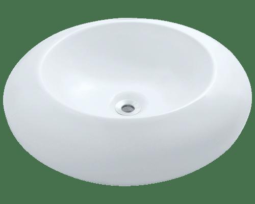 Polaris P09V 19-5/8 Inch Porcelain Vessel Sink