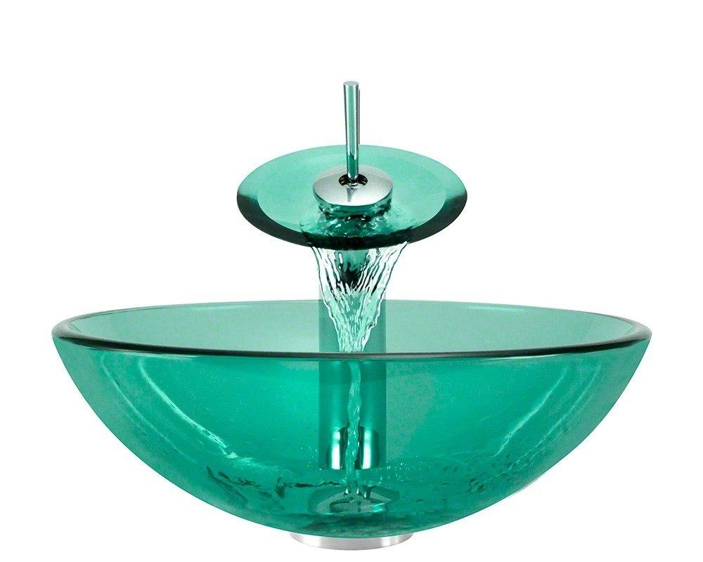 Polaris P106-E-WF 16-1/4 Inch Emerald Bathroom Waterfall Faucet Ensemble