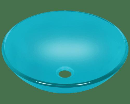 Polaris P106 16-1/2 Inch Colored Glass Vessel Sink