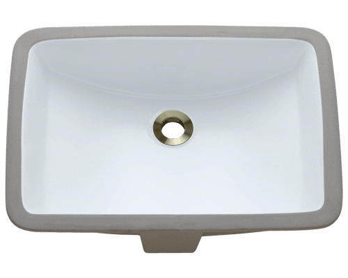 Polaris P3191U 20-3/4 Inch Rectangular Porcelain Sink