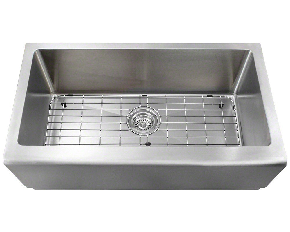 Polaris P504 ENS 16 Gauge Kitchen Ensemble Sink