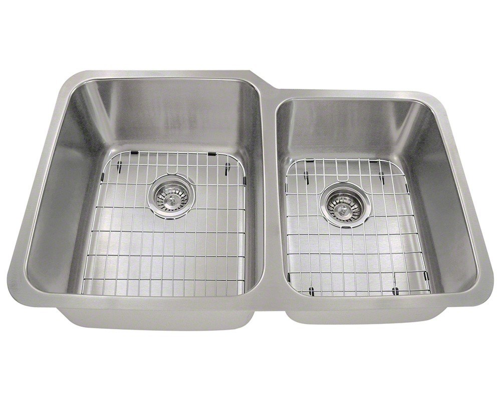 Polaris PL315-ENS 16 Gauge Kitchen Ensemble (Sink, 2 Standard Strainers, and 2 Sink Grids)