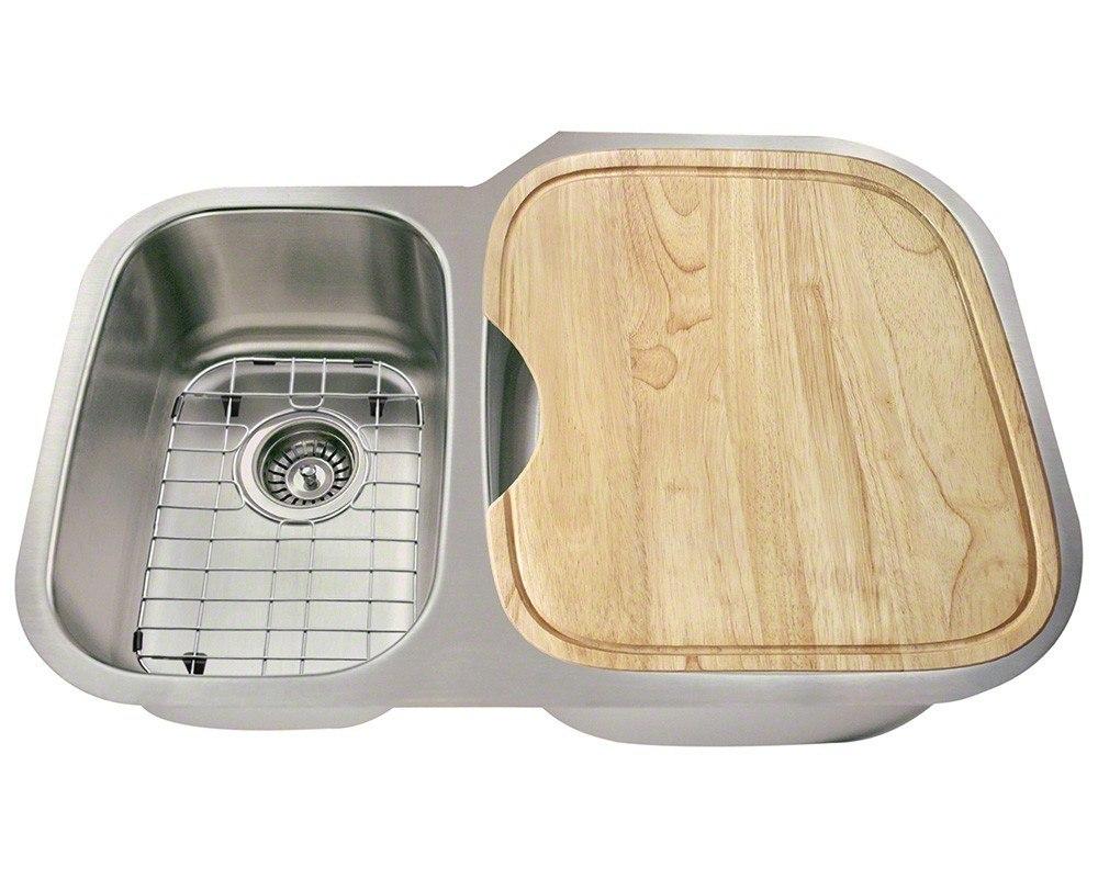 Polaris PR605-ENS 18 Gauge Kitchen Ensemble (Sink, 2 Standard Strainers, 2  Sink Grids, and Cutting Board)