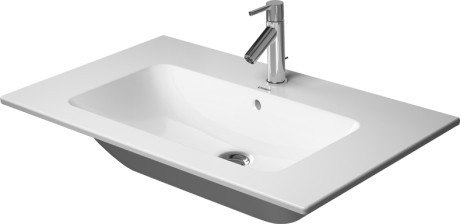 Duravit 233683 Me by Starck 32-5/8 Inch White Furniture Washbasin with Overflow and Tap Platform