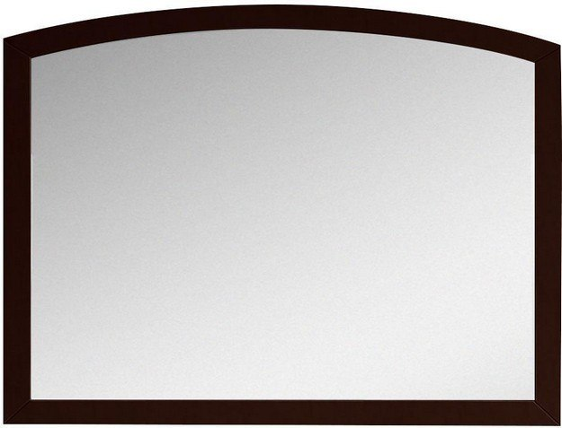 American Imagination AI-18197 Bow 35 x 25.6 Inch Modern Birch Wood-Veneer Wood Mirror In Coffee