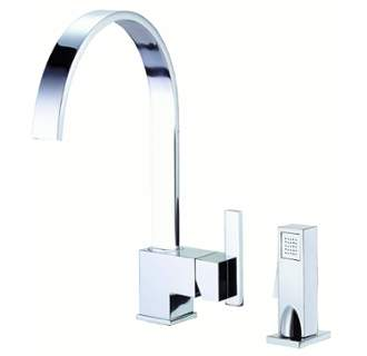 DANZE D401144 SIRIUS 1H KITCHEN FAUCET WITH SPRAY 1.75 GPM AERATION/2.2 GPM SPRAY