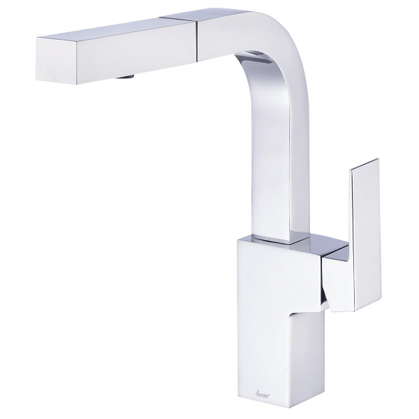 Danze D404562 Mid-Town Trim Line Single Handle Pull-Out Kitchen Faucet with  SnapBack Retraction, 1.75 GPM