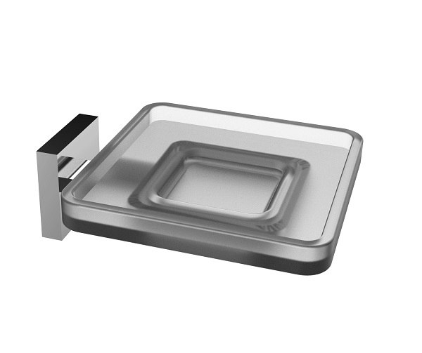 EVIVA EVAC810 PLATER GLASS SOAP HOLDER WALL MOUNT