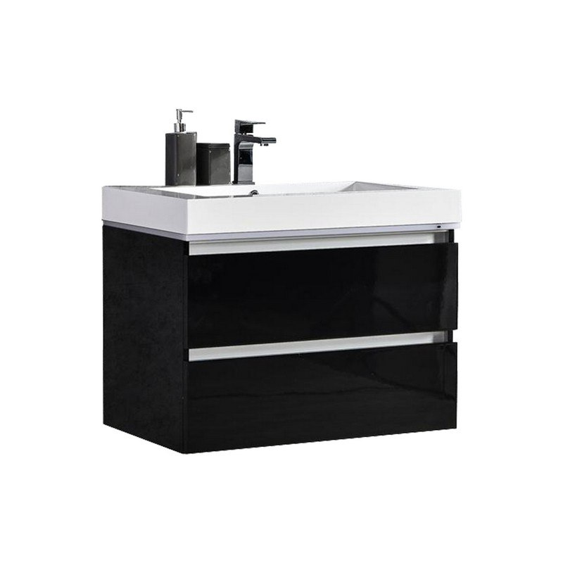 Mtd Mtd Lv30b Maui 30 Inch Led Illuminated Single Sink Wall Mount Floating Bathroom Vanity With Acrylic Top Mtd Lv30b