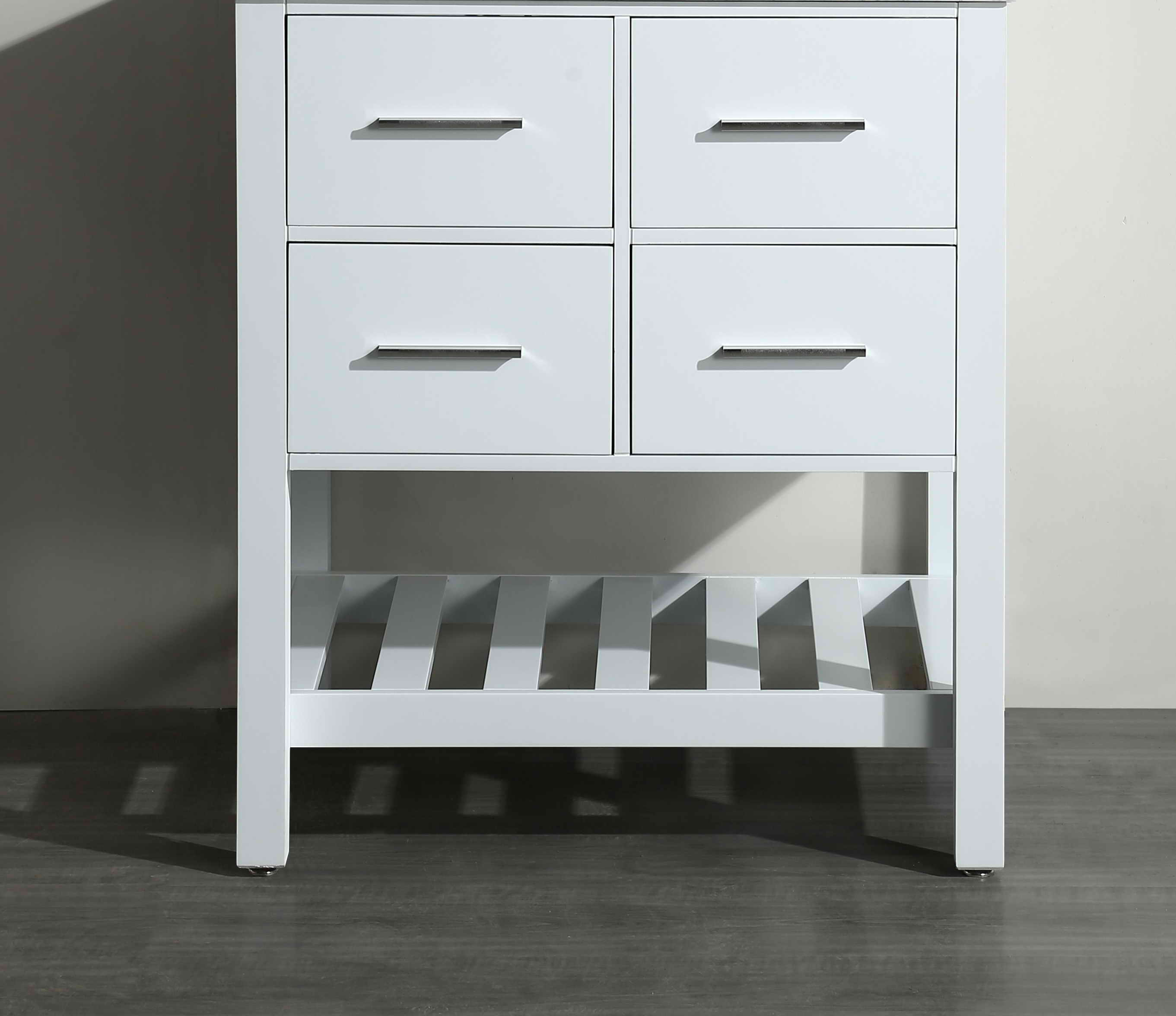 Bosconi SB-250-1WHMC 29 Inch Main Cabinet in White