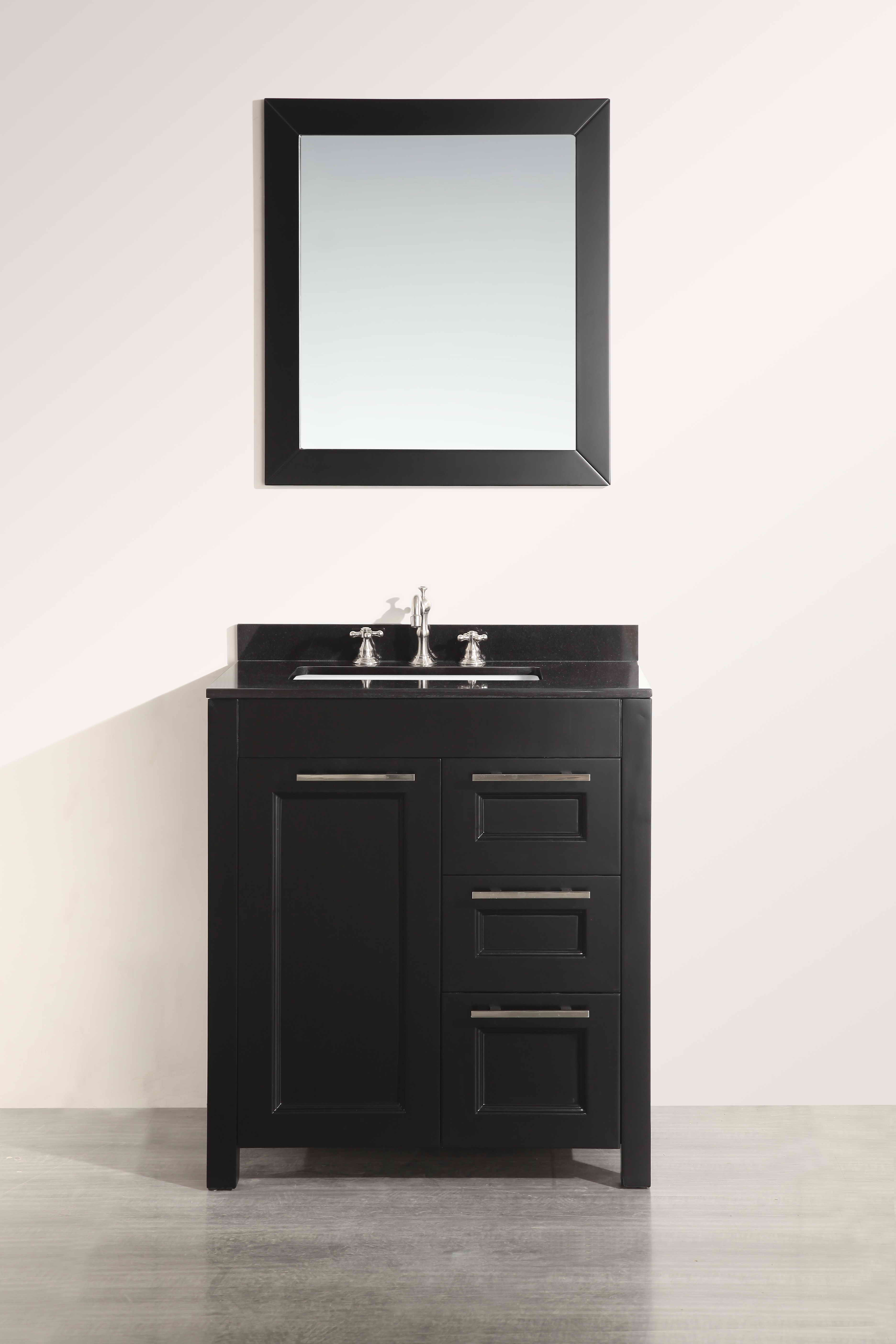 Bosconi SB-267-1BBG 30 Inch Single Vanity in Black Finish