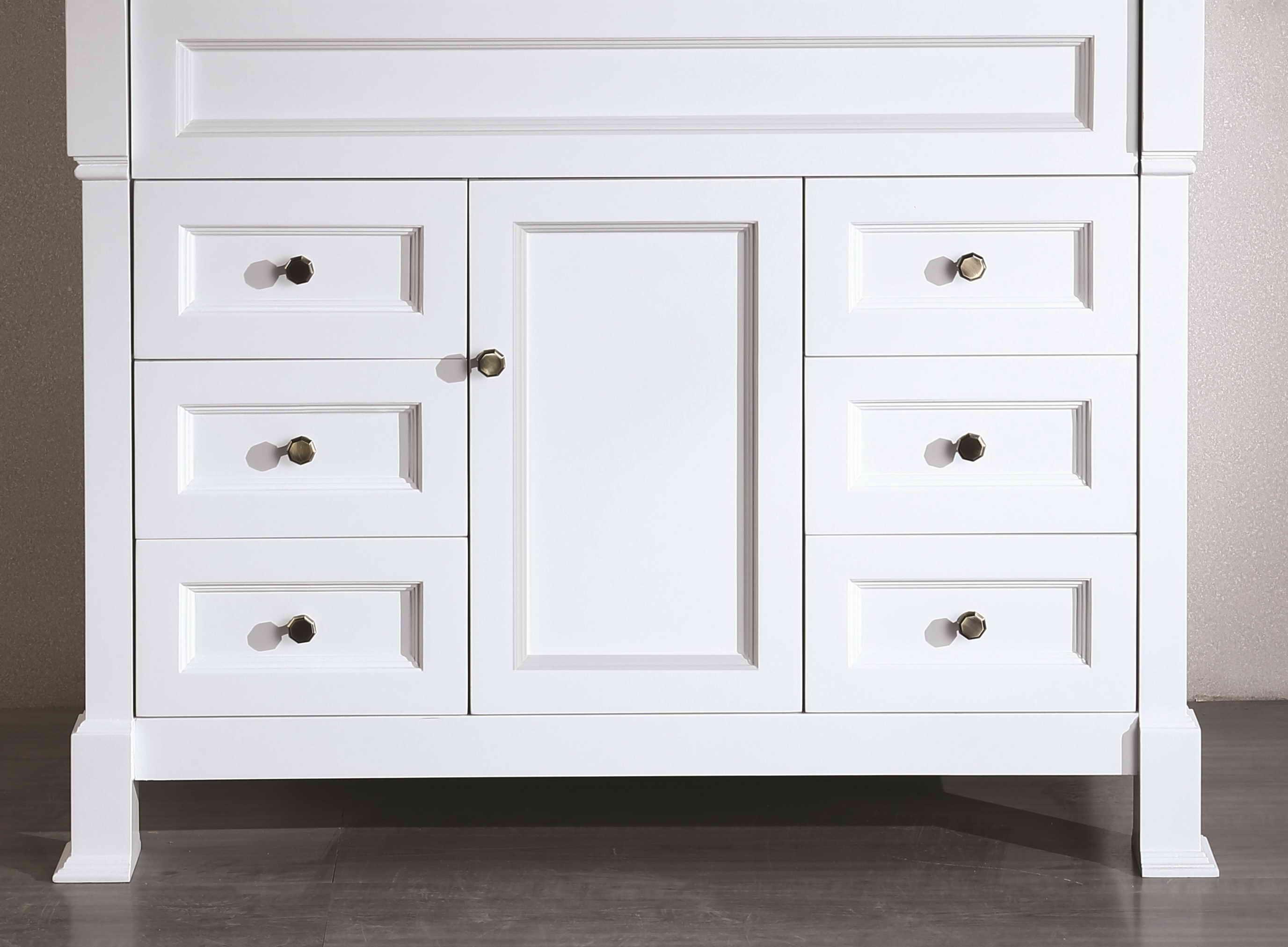 Bosconi SB-278WHMC 43 Inch Main Cabinet in White
