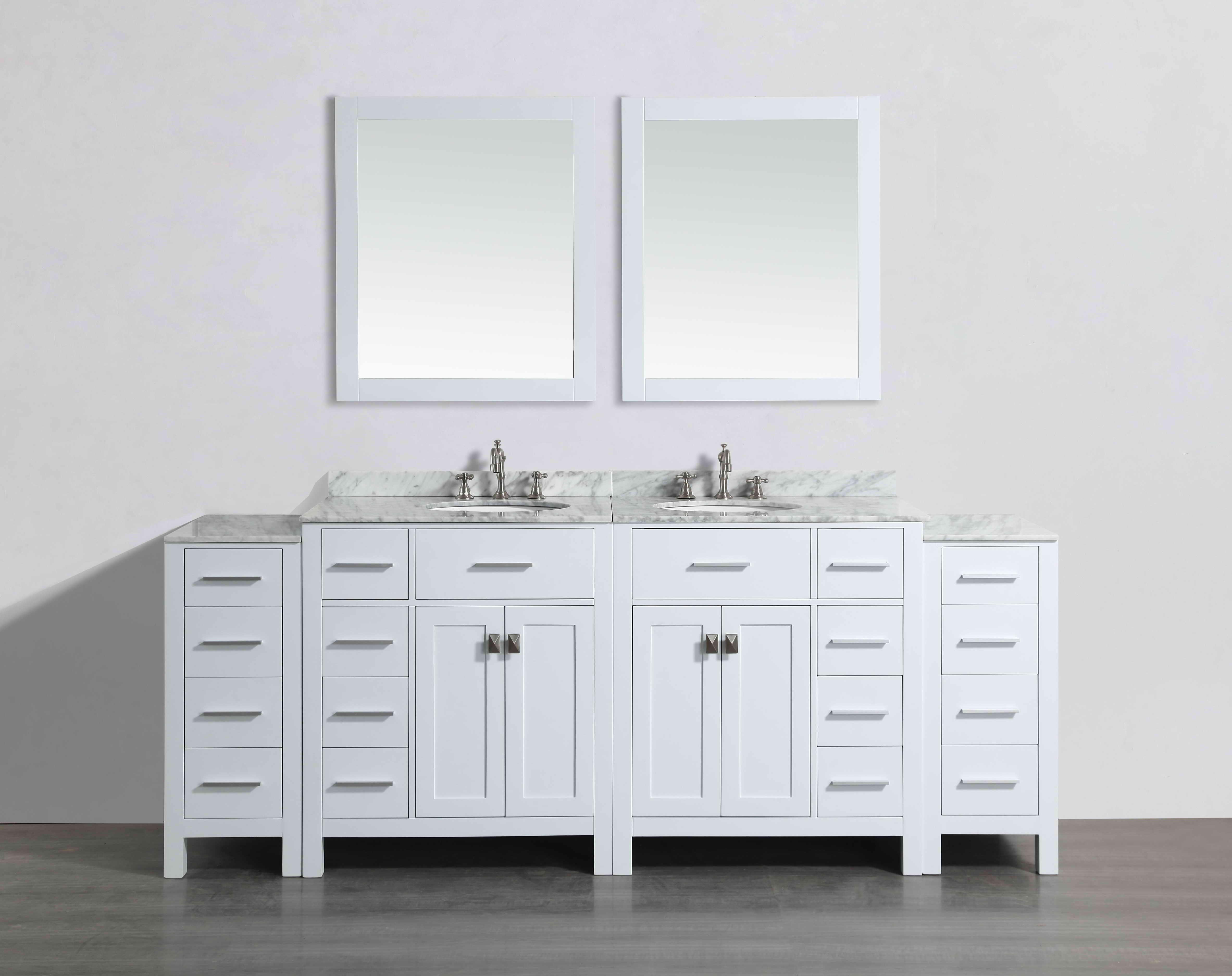 Bosconi SB-2LR2104WH2S 87 Inch Vanity in White