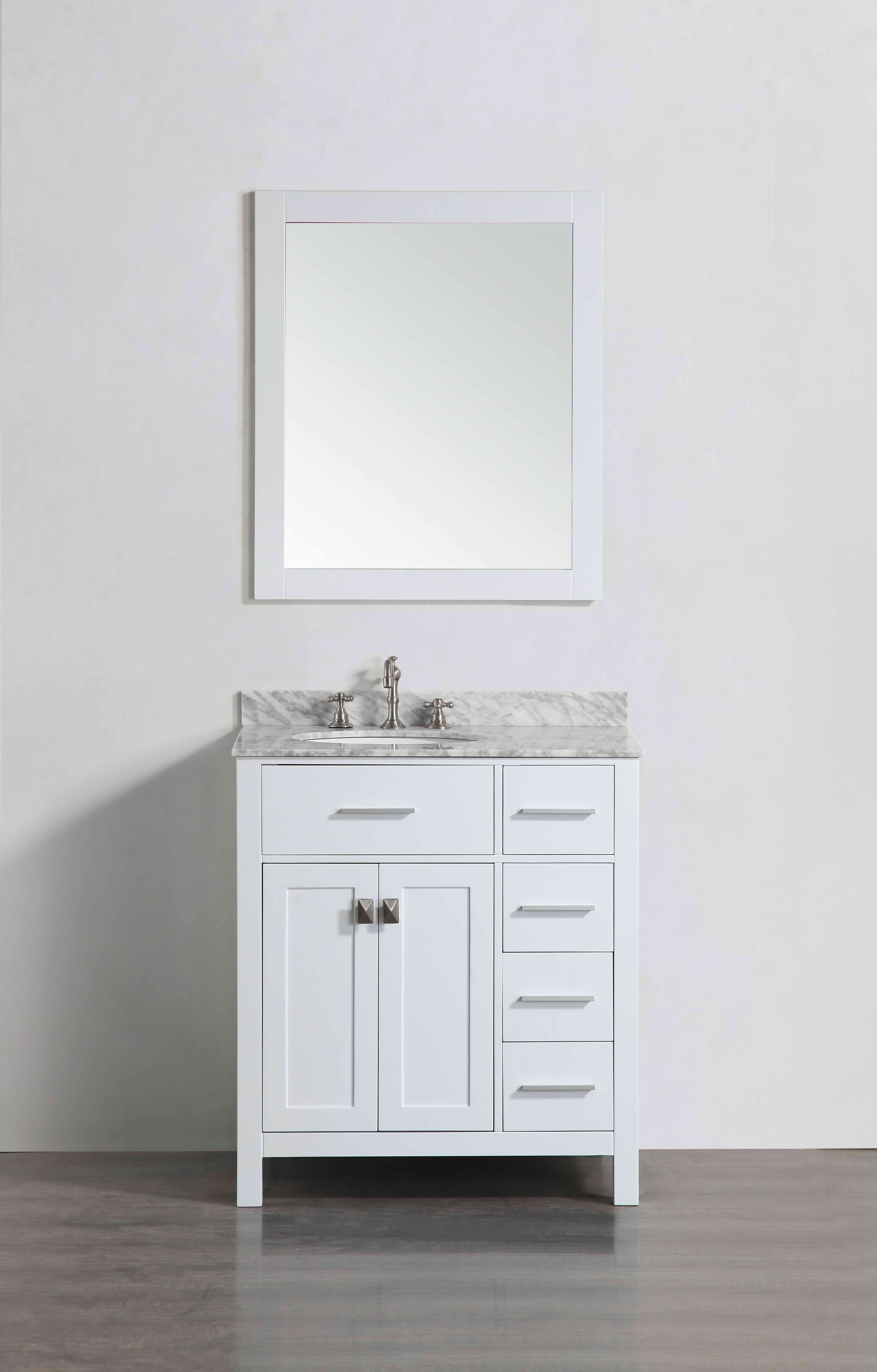 Bosconi SB-L2104WH 30 Inch Single Vanity in White