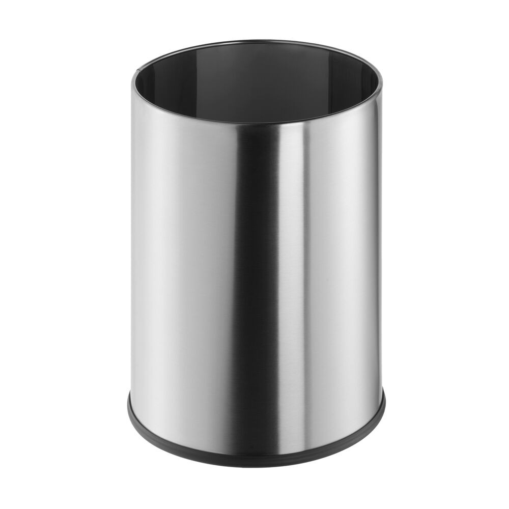 GEESA 640 STANDARD HOTEL FREE STANDING ROUND POLISHED STAINLESS STEEL WASTE BIN