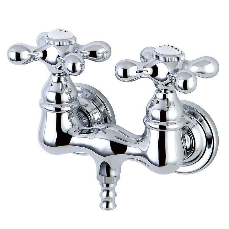 KINGSTON BRASS CC38T1 VINTAGE 3-3/8 INCH WALL MOUNT TUB FILLER IN POLISHED CHROME