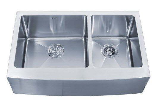 eeee87c4db Kraus KHF203-33 33 Inch Farmhouse Apron 60/40 Double Bowl 16 Gauge Stainless  Steel Kitchen Sink KHF203-33 KHF20333.