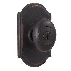 WESLOCK 07140M MOLTEN BRONZE DURHAM KEYED ENTRY DOOR KNOB WITH PREMIER ROSETTE