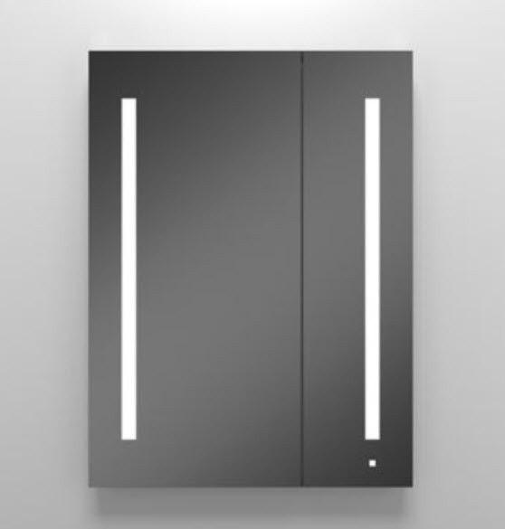 Robern AC3040D4P2L Aio Series 29-1/4 Inch Flat Plain Mirror Cabinet