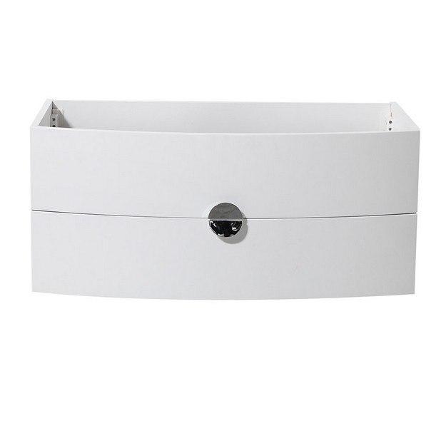 Energia White Modern Bathroom Vanity fcb5092pw energia white modern bathroom cabinet