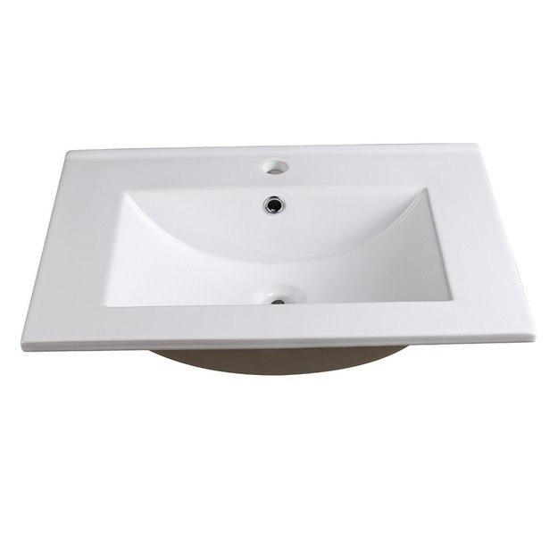FRESCA FVS6224WH TORINO 24 INCH WHITE INTEGRATED SINK WITH COUNTERTOP