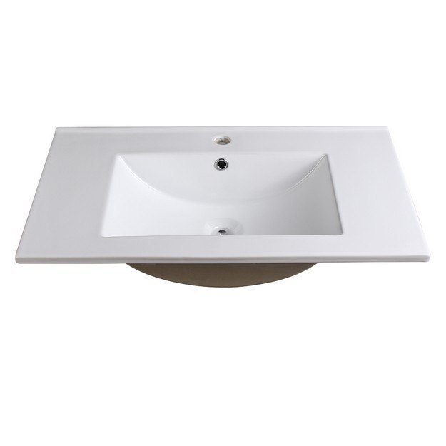 FRESCA FVS6230WH TORINO 30 INCH WHITE INTEGRATED SINK WITH COUNTERTOP