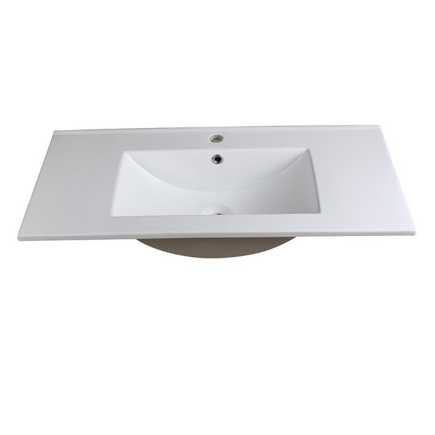 FRESCA FVS6236WH TORINO 36 INCH WHITE INTEGRATED SINK WITH COUNTERTOP