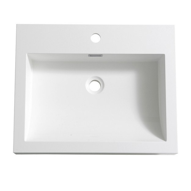 FRESCA FVS8006WH NANO 24 INCH WHITE INTEGRATED SINK WITH COUNTERTOP