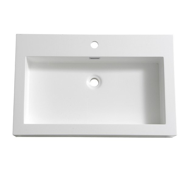 FRESCA FVS8030WH LIVELLO 30 INCH WHITE INTEGRATED SINK WITH COUNTERTOP