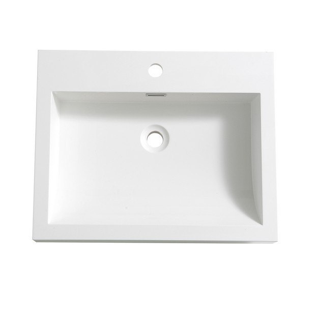 FRESCA FVS8058WH ALTO 23 INCH WHITE INTEGRATED SINK WITH COUNTERTOP