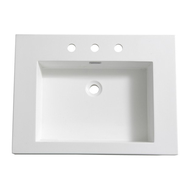 FRESCA FVS8070WH POTENZA 28 INCH WHITE INTEGRATED SINK WITH COUNTERTOP
