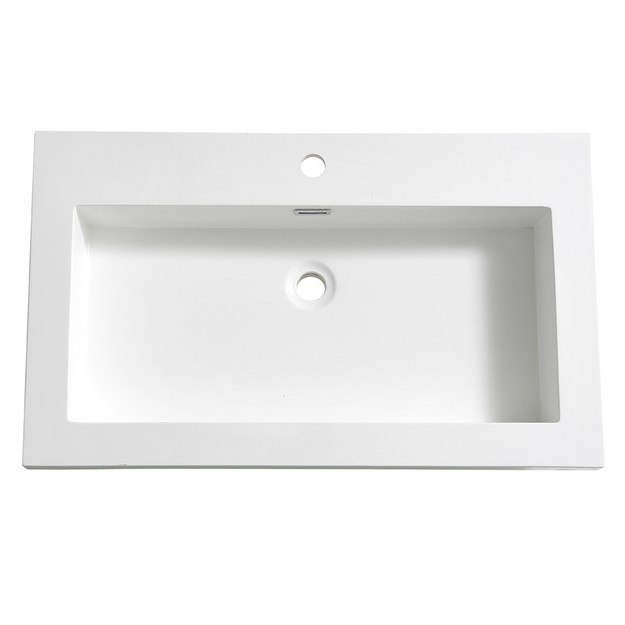 FRESCA FVS8080WH MEDIO 32 INCH WHITE INTEGRATED SINK WITH COUNTERTOP