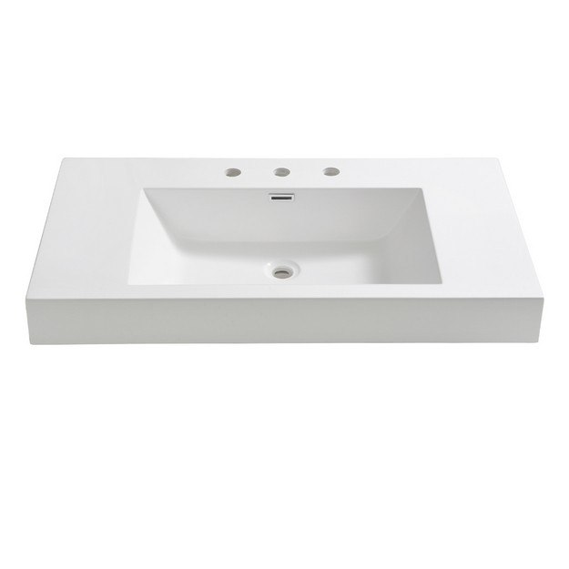 FRESCA FVS8090WH VISTA 36 INCH WHITE INTEGRATED SINK WITH COUNTERTOP