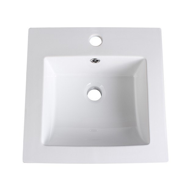 FRESCA FVS8118WH ALLIER 16 INCH WHITE INTEGRATED SINK WITH COUNTERTOP
