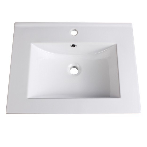 FRESCA FVS8125WH ALLIER 24 INCH WHITE INTEGRATED SINK WITH COUNTERTOP