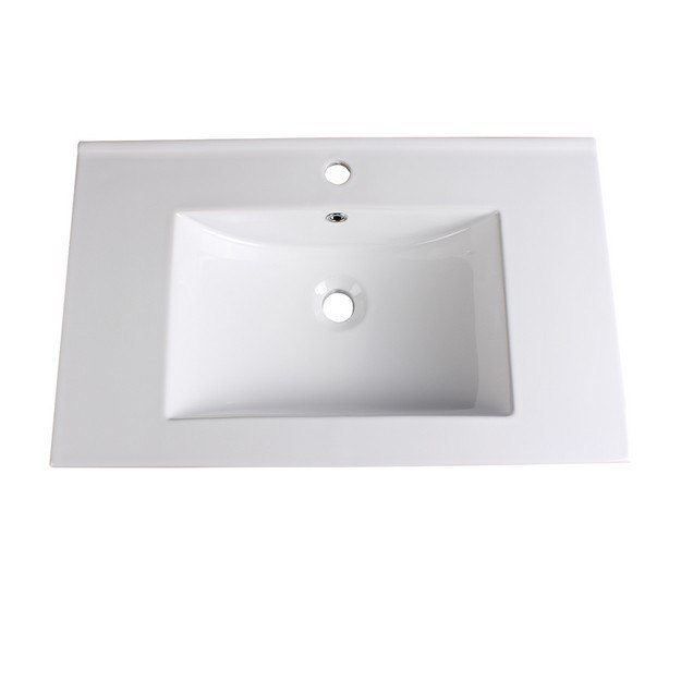 FRESCA FVS8130WH ALLIER 30 INCH WHITE INTEGRATED SINK WITH COUNTERTOP