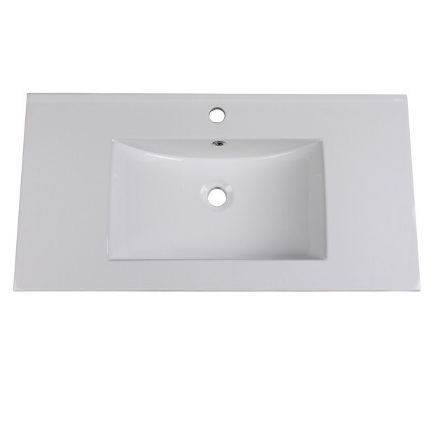 FRESCA FVS8136WH ALLIER 36 INCH WHITE INTEGRATED SINK WITH COUNTERTOP