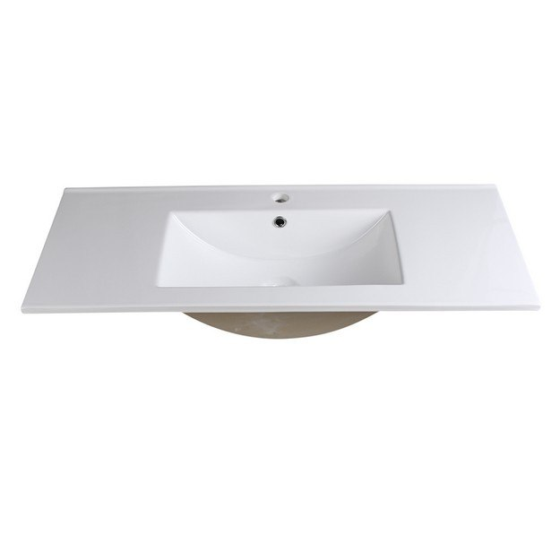 FRESCA FVS8140WH ALLIER 40 INCH WHITE INTEGRATED SINK WITH COUNTERTOP