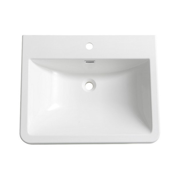 FRESCA FVS8525WH MILANO 26 INCH WHITE INTEGRATED SINK WITH COUNTERTOP