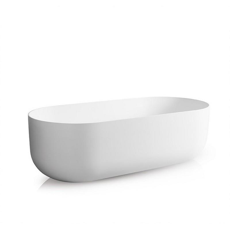 JEE-O SBM069 FLOW 70.08 INCH FREESTANDING BATHTUB WITH OVERFLOW